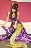A golden naga in purple by jaserzhang
