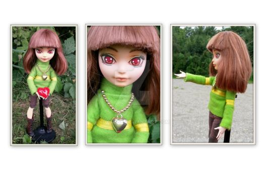 [EAH repaint]  Chara from Undertale by Alyaline