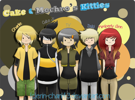 Cake and Mochro's Humanized Kitties by Erin-Chan143