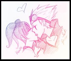 Jack Spicer x Kimiko by HolyDemon