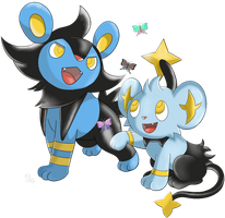 Pokemon - Luxio and Shinx