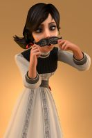 Lil' Miss Mustachio by Ananina23