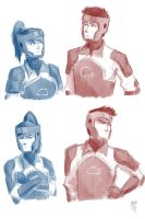 Korra and Mako doodle by bbandittt