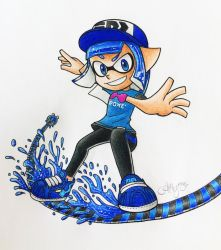 {Comm.} Acro the Inkling by AmyRosers