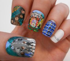 The Beatles Nail Art by henzy89