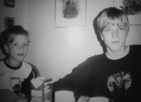 Pelle Ohlin with his brother by lilg9