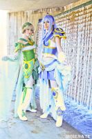 Wind and Water - Fuu and Umi by HelenaTears
