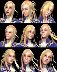 3D Fencer Girl Expression Test by Konartist3D