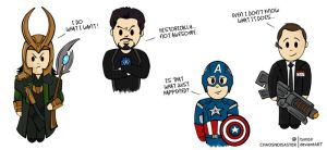 Cartoon Avengers -1 by ChaosNDisaster
