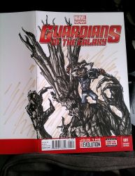 Guardians of the Galaxy sketch cover by SerenaGuerra