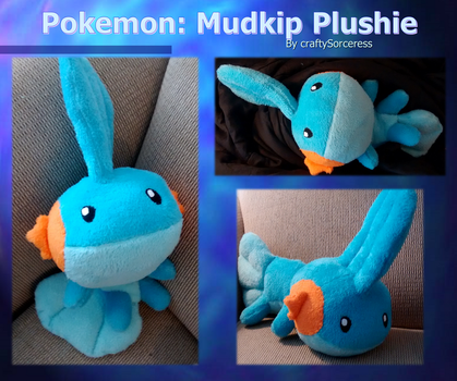 Pokemon Mudkip Plushie by craftysorceress