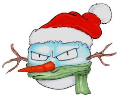 SnowmanVoltorb by OcioProduction