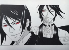 Sebastian Michaelis by step-on-mee