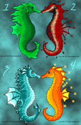 Seahorse Adoptables 3 Left by LadyDistort