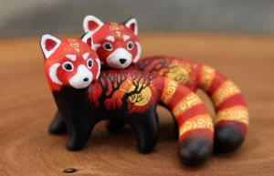 Red pandas by hontor