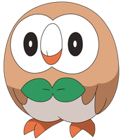 ROWLET ANIME ARTWORK by Tzblacktd