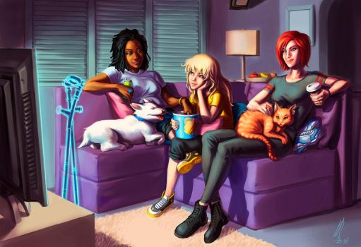 COMMISSION-MOVIE NIGHT by ritam