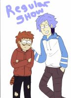 REGULAR SHOW  ,Mordecai and Rigby by ChibiRigby