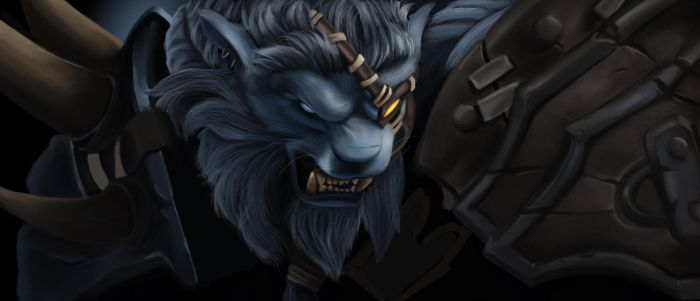 Rengar painting by Hawkmccloud