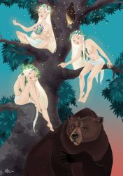 Rusalki and the bear by snowapples