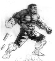 Hulk - Shadow+Light study by fabiocralves