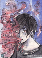 Fire breath - ACEO by Disaya