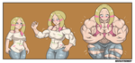 Mina muscle growth by NeroScottKennedy