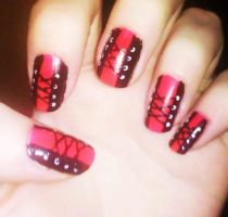 Corset nails by Chelseapoops