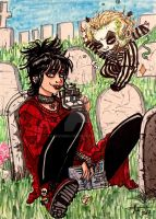Beetlejuice and Lydia by irishimo