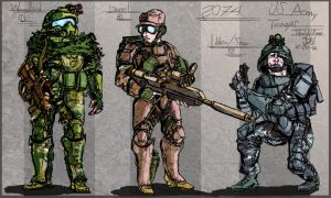 US Army Soldiers color by Henskelion