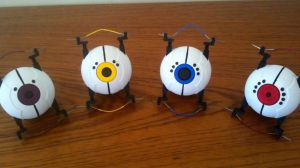 Portal - Glados Cores for cosplay 3D printed by DJBrowny