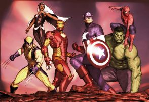 Avengers by MichaelCopp