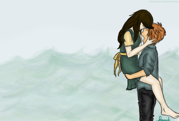 Annie and Finnick - Indivisible. by smilingsunbeam