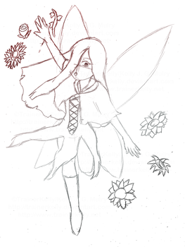 Sketch - Death Fairy's Flowers by TrainerKelly