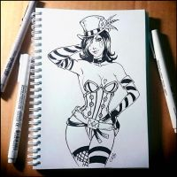 Sketchbook - Mad Moxxi (NSFW on Patreon) by Candra