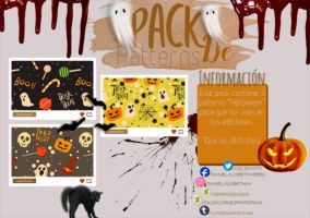 ~.Pack de Patterns #17 {Halloween} by ISirensDesigns