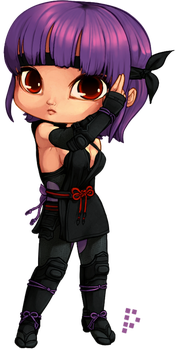 Chibi Ayane Colored by Pyxelle-art