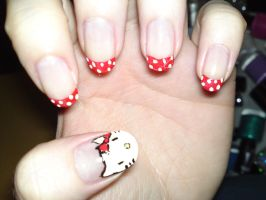 17. Hello Kitty Nails by megs2606