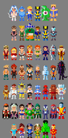 Marvel vs. Capcom 2 Characters 8 bit by LustriousCharming