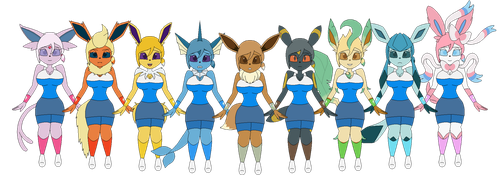 Eva and The Armlets of Eeveelution by redryan2009
