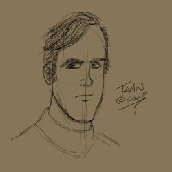 male head sketch by tanis