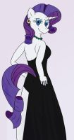 Rarity in a dress by Arelathh