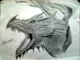 The World of Ice and Fire Grandfather Dragon by TrueArtStyles