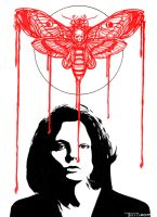 Clarice Starling Deaths head by Tom Kelly by TomKellyART