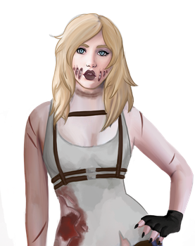 Ashley the infected  for xRotten-Heartx by Tigerlilyteahouse