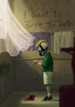 I want to save the earth by Lepusplus