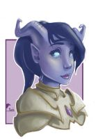 Draenei Paladin by Art-Magpie