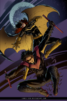 Batgirl And Nightwing by comic-eeb