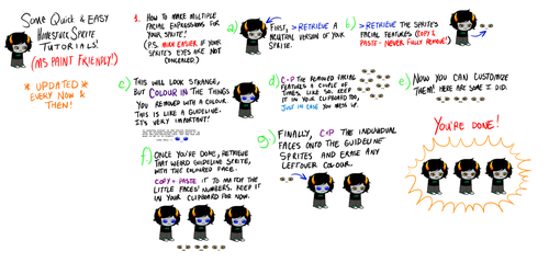 homestuck sprite tutorials! by homestuckspritebases