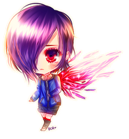 Tokyo Ghoul: Touka | Speedpaint by my-berry